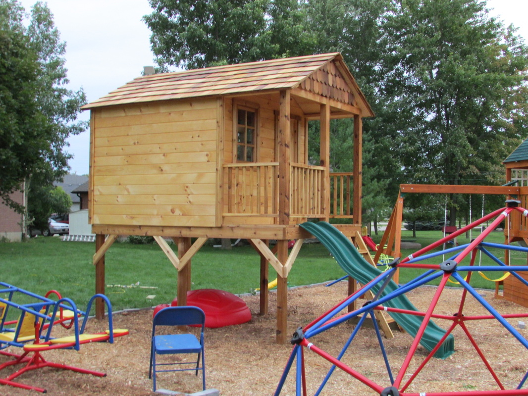Recently Completed Elevated Playhouse Custom Shed Builder